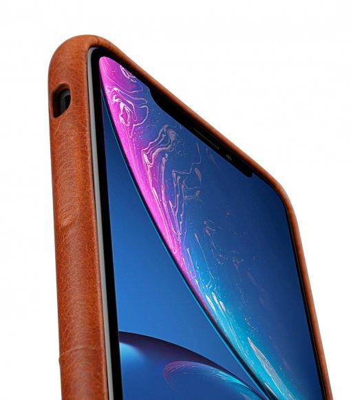 Melkco Elite Series Waxfall Pattern Premium Leather Coaming Pocket Case for Apple iPhone XR - ( Tan WF )