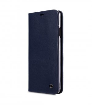 Melkco Fashion Cocktail Series Premium Leather Slim Flip Type Case for Apple iPhone XS Max - (Navy)