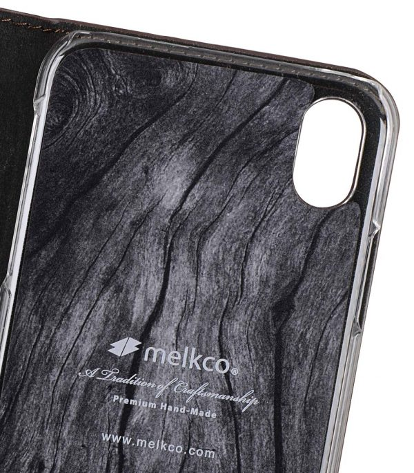 Melkco Fashion Cocktail Series Premium Leather Slim Flip Type Case for Apple iPhone XR - ( Brown )