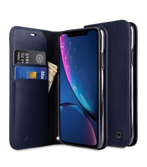 Melkco Fashion Cocktail Series Premium Leather Slim Flip Type Case for Apple iPhone XR - (Navy)