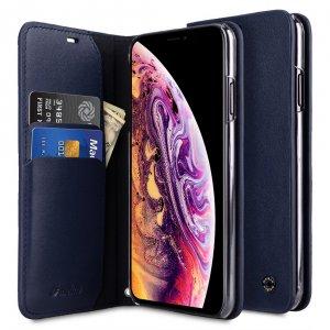 Melkco Fashion Cocktail Series Premium Leather Slim Flip Type Case for Apple iPhone XS Max - (Navy)