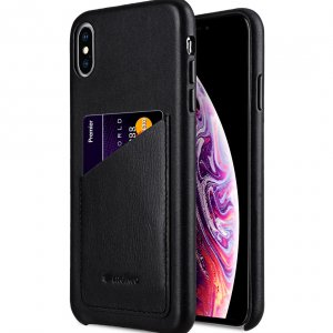 "Melkco Origin Series Premium Leather Regal Pocket Cover Case for Apple iPhone XS Max (6.5"") - ( Black )"