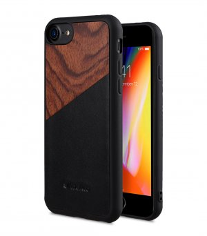 "Melkco Origin Series Premium Leather Woodies Snap Cover Case for Apple iPhone 7 / 8 (4.7"") - ( Black )"