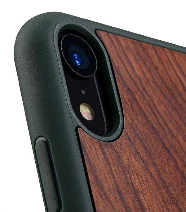 "Melkco Origin Series Premium Leather Woodies Snap Cover Case for Apple iPhone XR (6.1"") - ( Dark Green )"