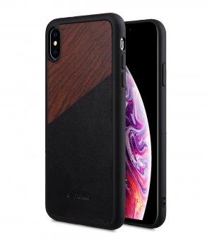 "Melkco Origin Series Premium Leather Woodies Snap Cover Case for Apple iPhone XS Max (6.5"") - ( Black )"