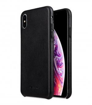 "Melkco Origin Series Premium Sheep Leather Regal Snap Cover Case for Apple iPhone XS Max (6.5"") - ( Black )"