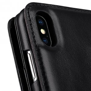 "Melkco Alphard Series Waxfall Pattern Premium Leather Alphard Wallet Plus Case for Apple iPhone XS Max (6.5"") - ( Black WF )"