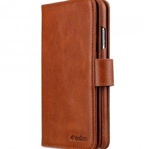 "Melkco Alphard Series Waxfall Pattern Premium Leather Alphard Wallet Plus Case for Apple iPhone XS Max (6.5"") - ( Tan WF )"
