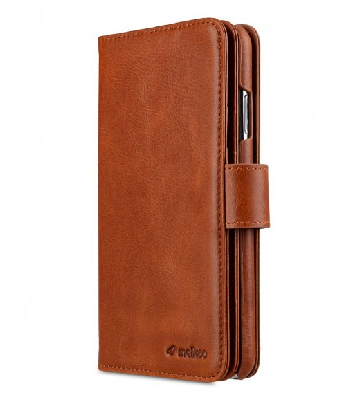 "Melkco Alphard Series Waxfall Pattern Premium Leather Alphard Wallet Plus Case for Apple iPhone XS Max (6.5"") - ( Tan WF )"