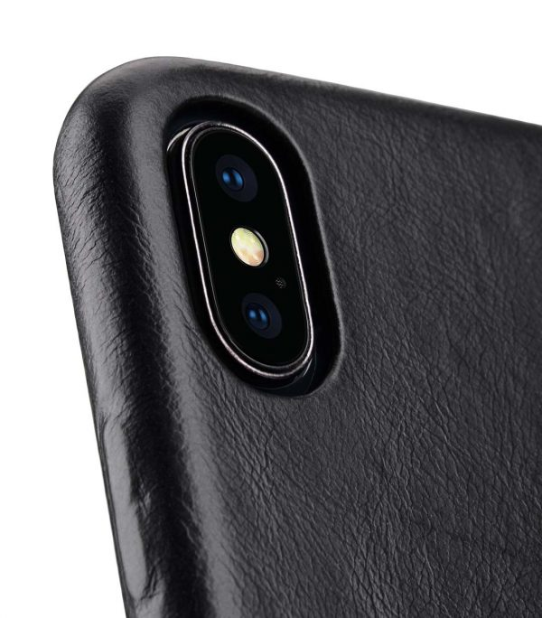 Melkco Premium Leather Coaming Snap Cover Case for Apple iPhone XS Max - (Black WF)