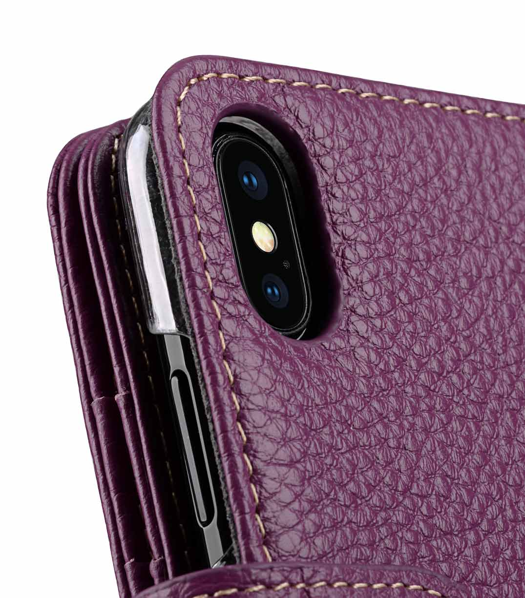 online store 59c1d 6225d Premium Leather Case for Apple iPhone X / XS - Wallet Plus Book Type