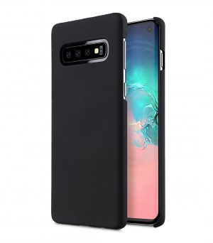 Melkco Rubberized PC Cover Case for Samsung Galaxy S10 - ( Black )