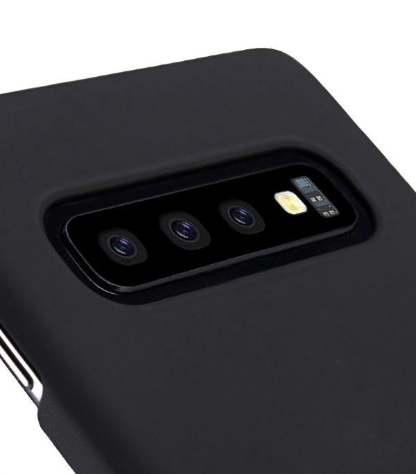Melkco Rubberized PC Cover Case for Samsung Galaxy S10+ - ( Black )