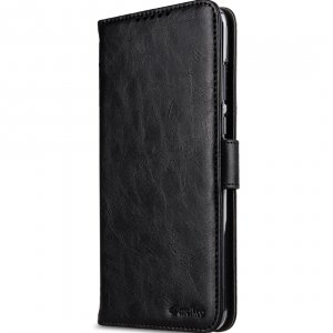 Melkco Wallet Book Series Crazy Horse PU Leather Wallet Book Clear Type Stand Case for Huawei Honor 8X Max - ( Black CH )