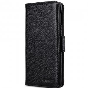 Melkco Wallet Book Series Lai Chee Pattern Premium Leather Wallet Book Type Case for Samsung Galaxy S10e - ( Black LC )