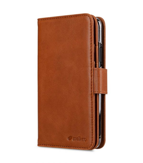 Premium Leather Case for Apple iPhone X - Wallet Plus Book Type (Tan WF)