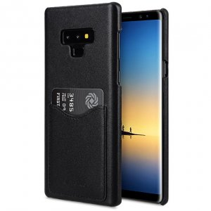 Melkco Premium Leather Card Slot Cover Case for Samsung Galaxy Note 9 - (Black)Ver.2
