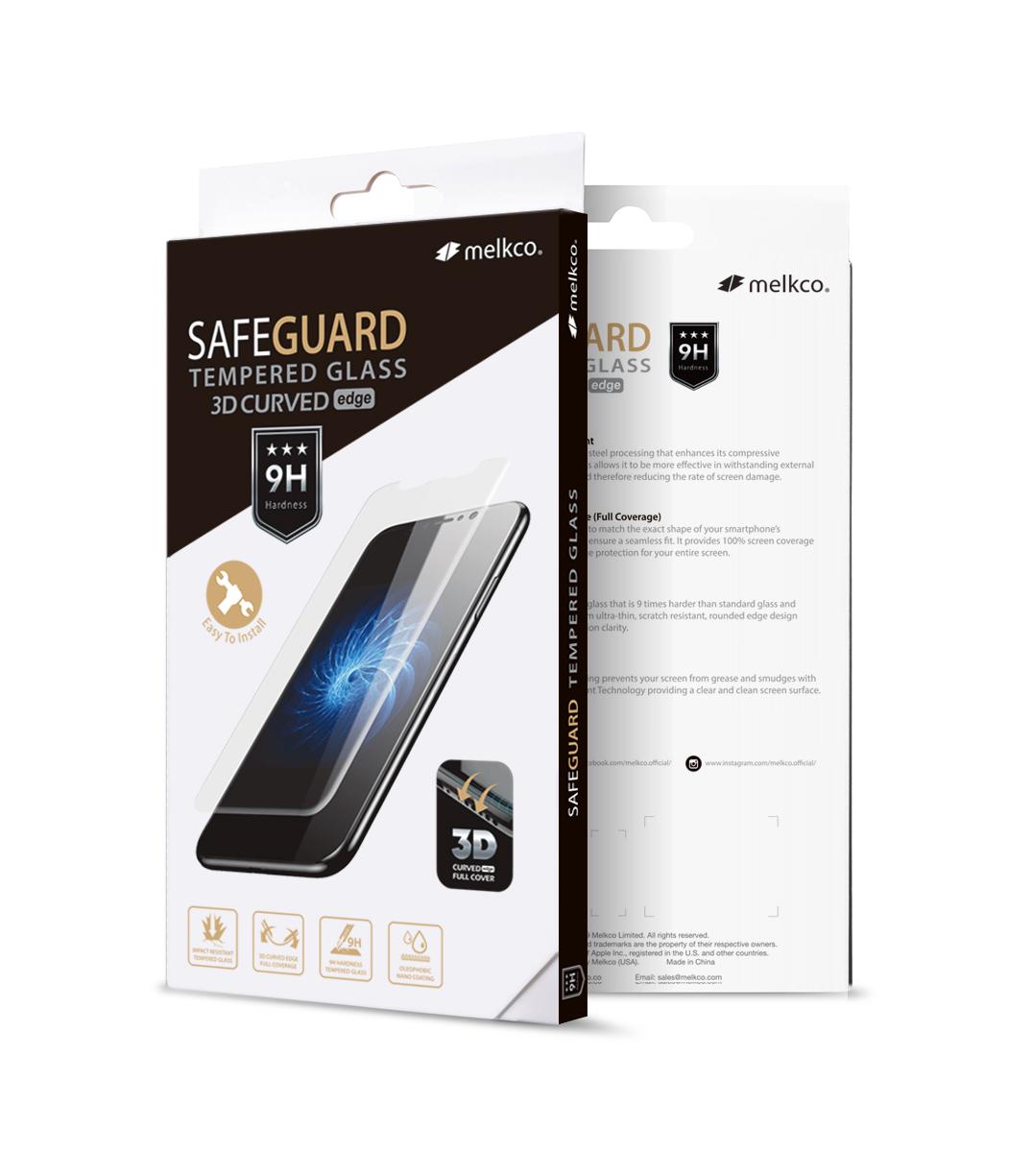 Melkco 3D Curvy Glass Screen Protector for Samsung Galaxy S10+ - ( Black Frame )