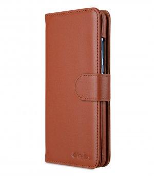 Melkco Alphard Series Premium Leather Alphard Type Case for Huawei P30 Lite - ( Orange Brown )