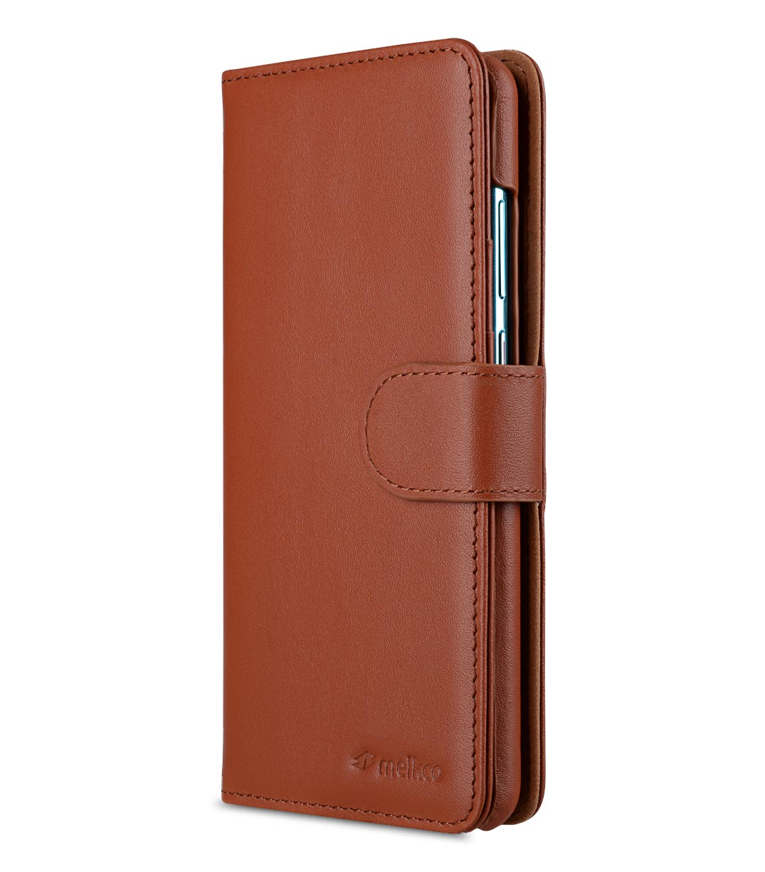 Melkco Alphard Series Premium Leather Alphard Type Case for Huawei P30 - ( Orange Brown )