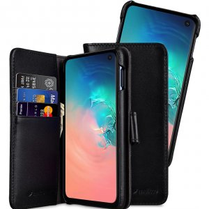 Melkco Alphard Series Waxfall Pattern Premium Leather Alphard Type Case for Samsung Galaxy S10 - ( Black WF )