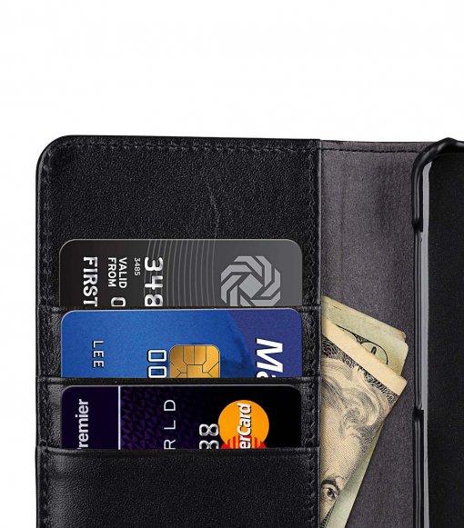 Melkco Alphard Series Waxfall Pattern Premium Leather Alphard Type Case for Samsung Galaxy S10 - ( Black WF )