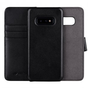 Melkco Alphard Series Waxfall Pattern Premium Leather Alphard Type Case for Samsung Galaxy S10e - ( Black WF )