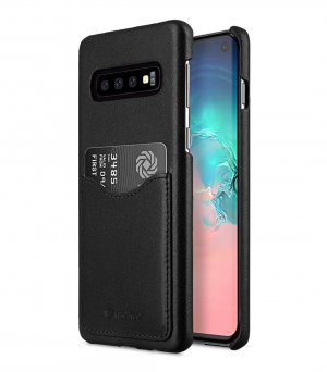 Premium Leather Card Slot Back Cover V2 Case for Samsung Galaxy S10