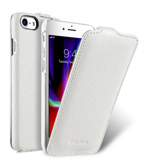 "Melkco Jacka Series Lai Chee Pattern Premium Leather Jacka Type Case for Apple iPhone 7 / 8 (4.7"") - ( White LC )"
