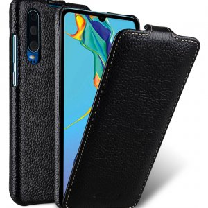 Melkco Jacka Series Lai Chee Pattern Premium Leather Jacka Type Case for Huawei P30 - ( Black LC )