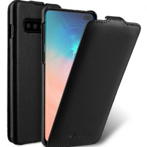 Melkco Jacka Series Premium Leather Jacka Type Case for Samsung Galaxy S10+ - ( Black )