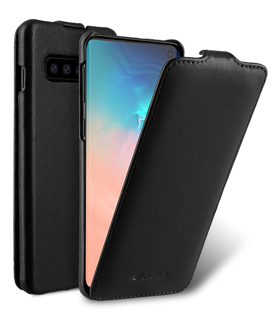 Premium Leather Jacka Type Case for Samsung Galaxy S10