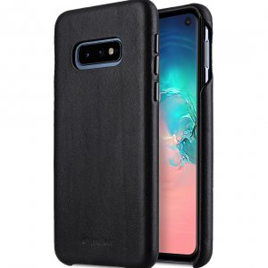 Melkco Origin Series Premium Leather Regal Snap Cover Case for Samsung Galaxy S10e - ( Black )