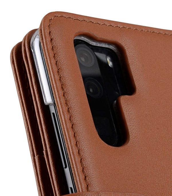 Melkco Wallet Book Series Crazy Horse Premium Leather Wallet Plus Book Type Case for Huawei P30 Pro - ( Brown CH )