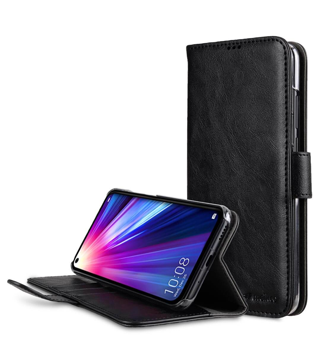 PU Leather Wallet Book Clear Type Stand Case for Huawei Honor V20