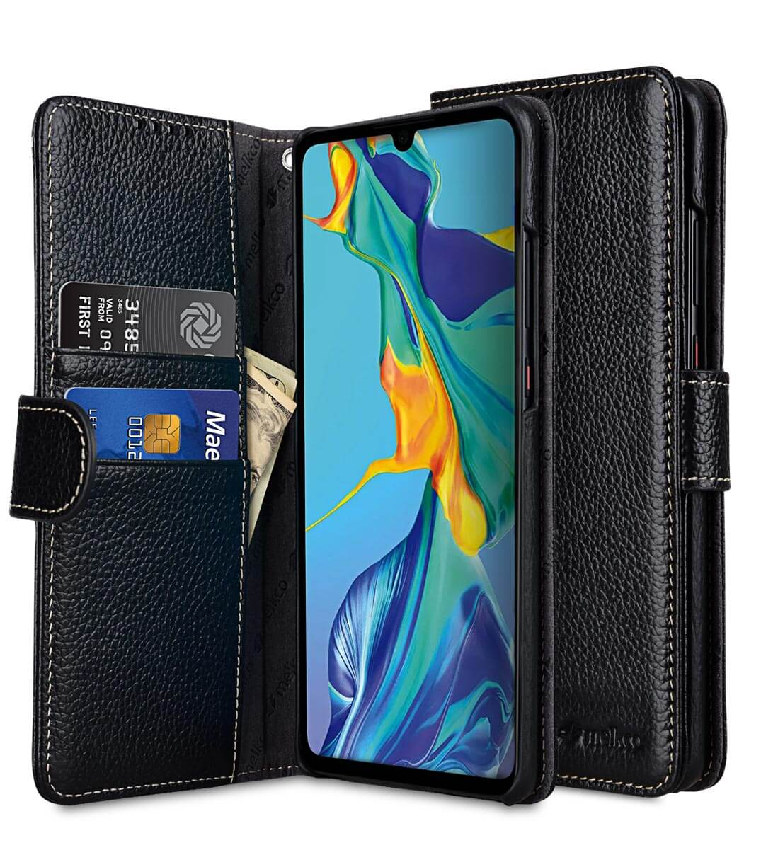 Premium Leather Wallet Book Type Case for Huawei P30 Pro