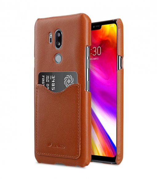 Premium Leather Card Slot Back Cover Case for LG G7 ThinQ / G7 Plus ThinQ