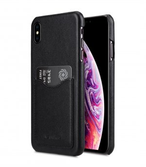 Premium Leather Card Slot Back Cover Case for Apple iPhone XS Max