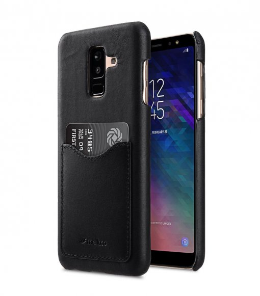 Premium Leather Card Slot Back Cover Case for Samsung Galaxy A6 Plus (2018)