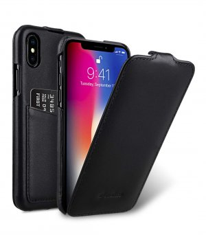 Premium Leather Case for Apple iPhone X / XS - Jacka Back Pocket