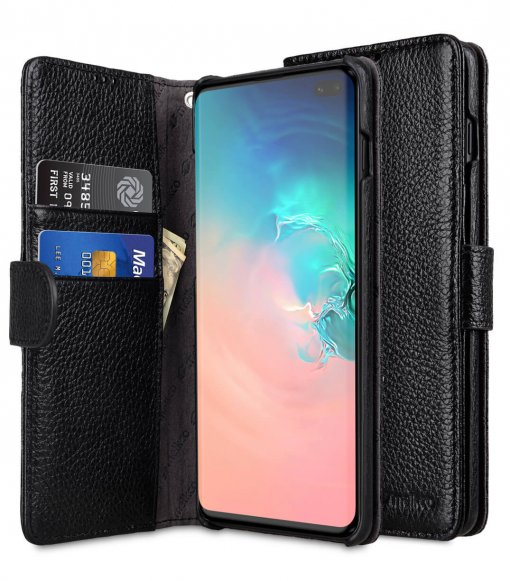 Premium Leather Wallet Book Type Case for Samsung Galaxy S10+