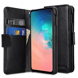 Premium Leather Wallet Book Type Case for Samsung Galaxy S10e