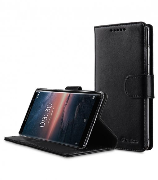 Premium Leather Case for Nokia 8 Sirocco - Wallet Book Clear Type Stand