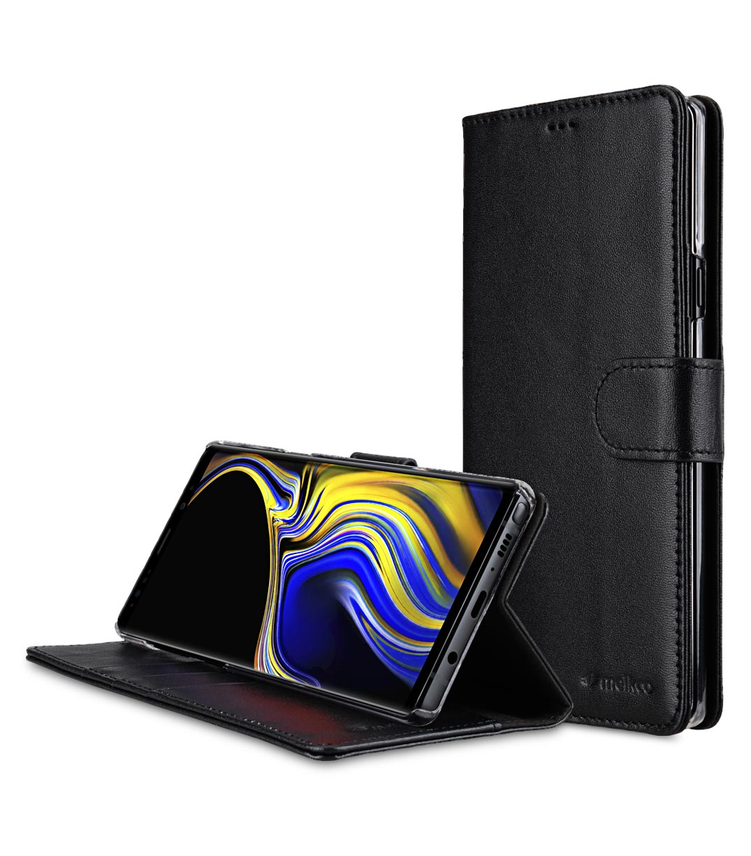 the best attitude 2196e 786a4 Premium Leather Case for Samsung Galaxy Note 9 - Wallet Book Clear Type  Stand