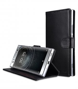 Premium Leather Case for Sony Xperia XA2 Ultra - Wallet Book Clear Type Stand
