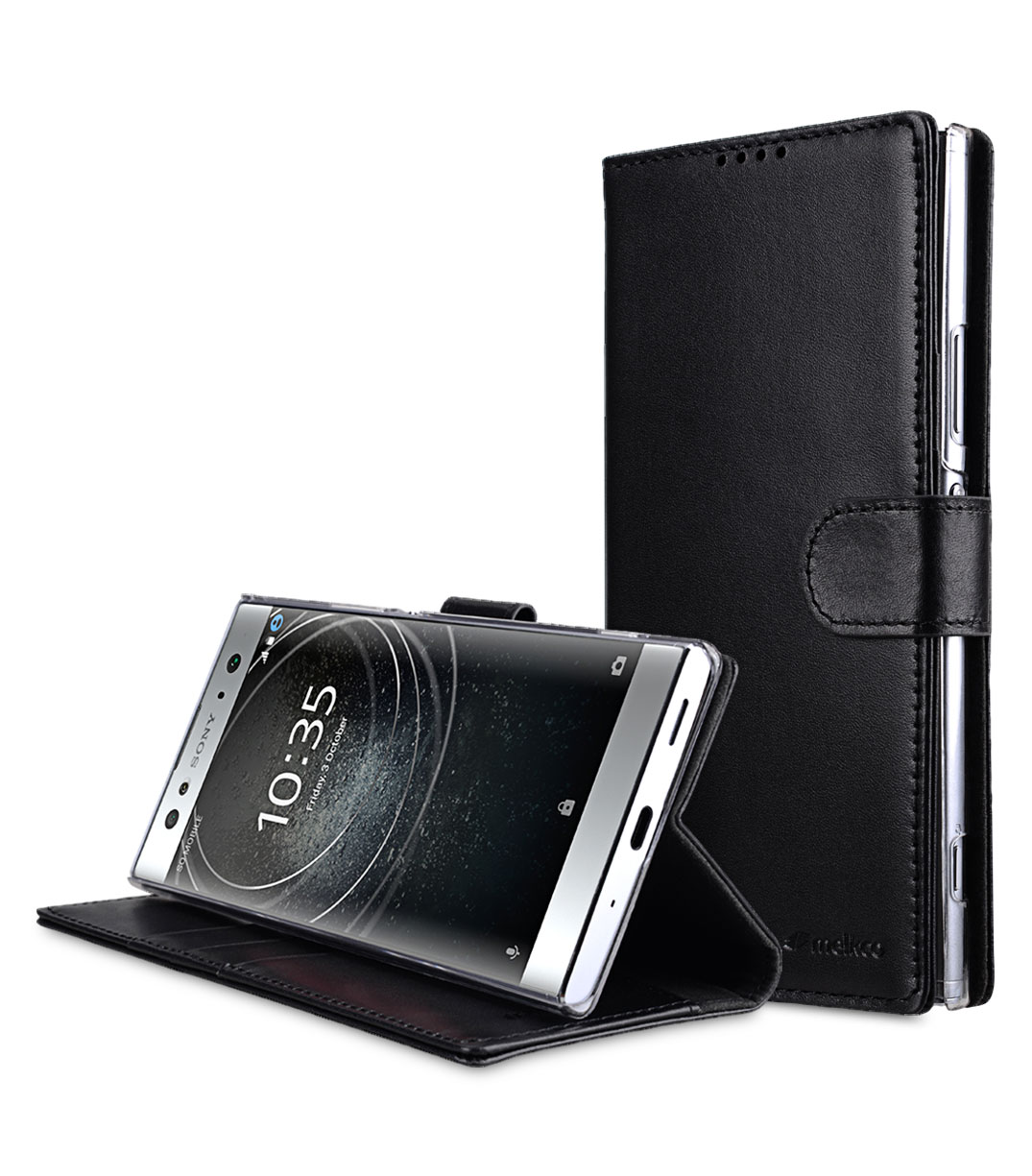 check out 4b5f3 68507 Premium Leather Case for Sony Xperia XA2 Ultra - Wallet Book Clear Type  Stand