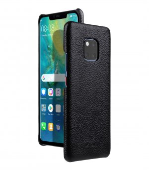 Premium Leather Snap Cover Case for Huawei Mate 20 Pro