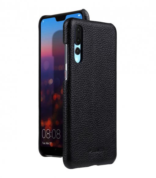 Premium Leather Snap Cover Case for Huawei P20 Pro