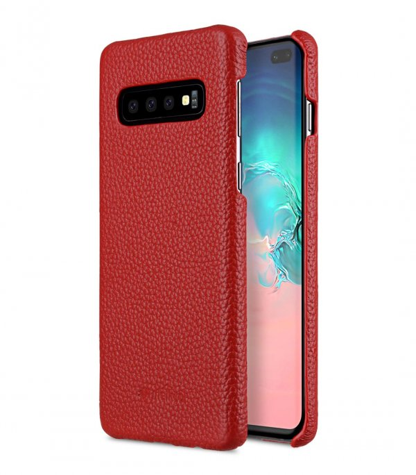 Premium Leather Snap Cover Case for Samsung Galaxy S10