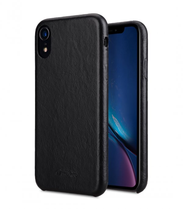 Elite Series Waxfall Pattern Premium Leather Coaming Snap Cover Case for Apple iPhone XR